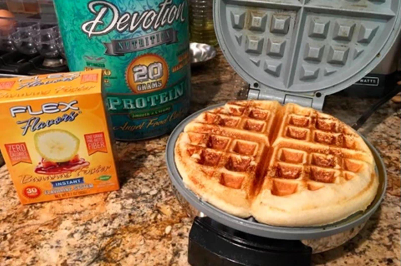 Sugar Free Banana Waffle