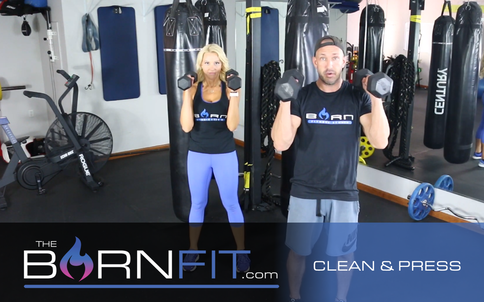 Clean and press workout