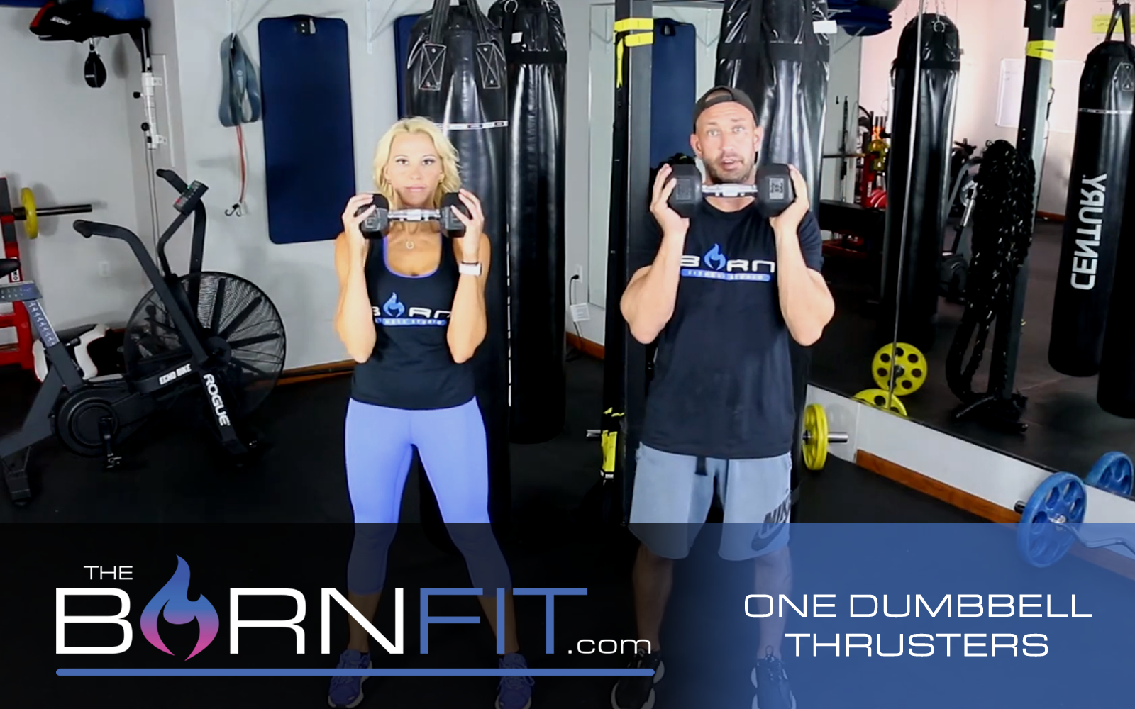 One dumbbell Thrusters workouts