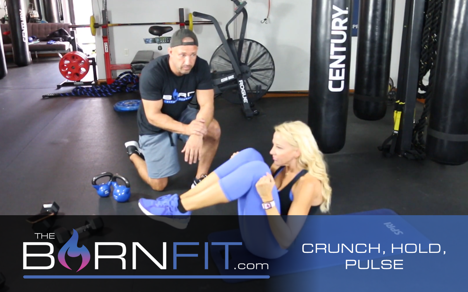 crunch hold pulse workout