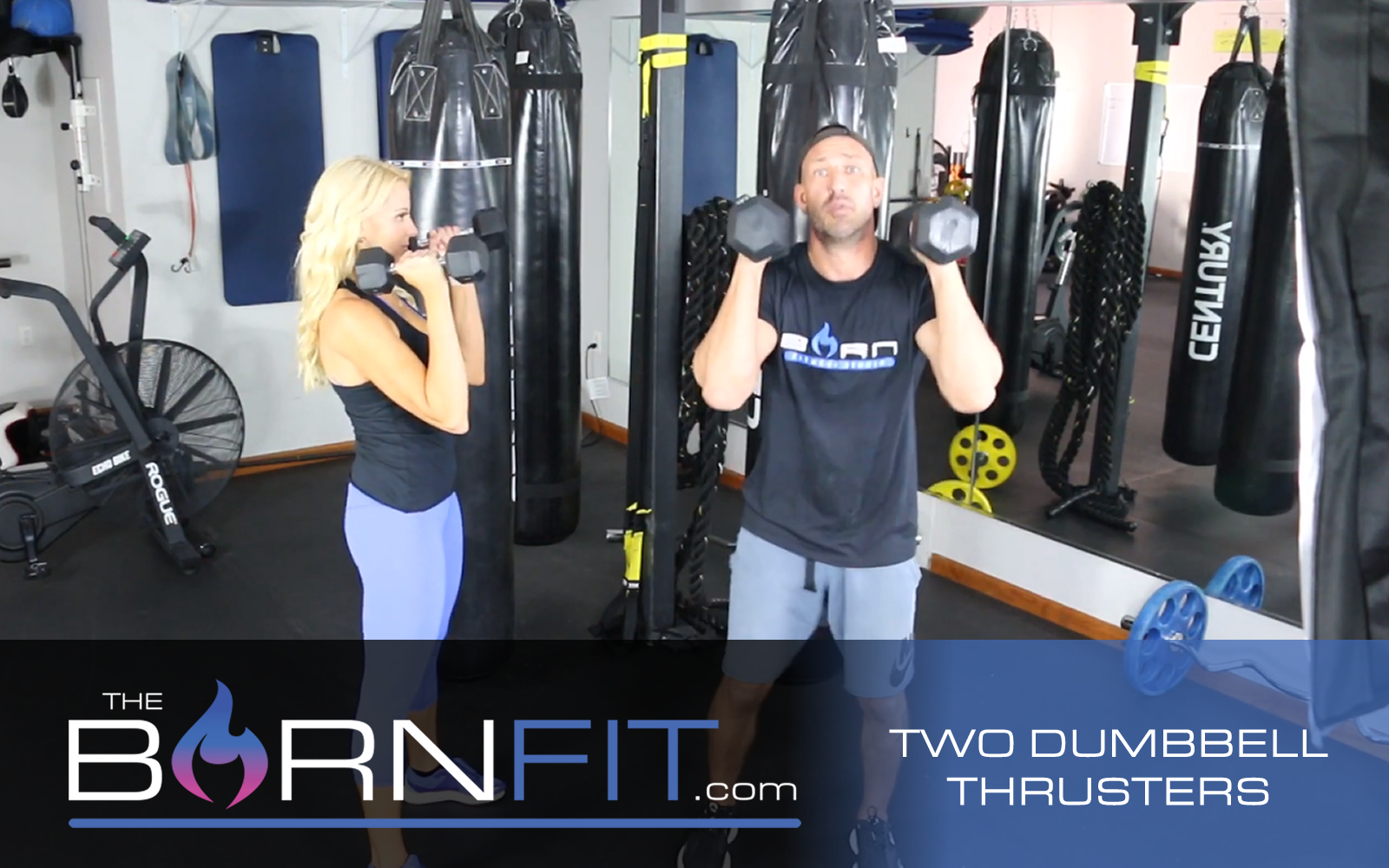 two dumbbell thrusters workout