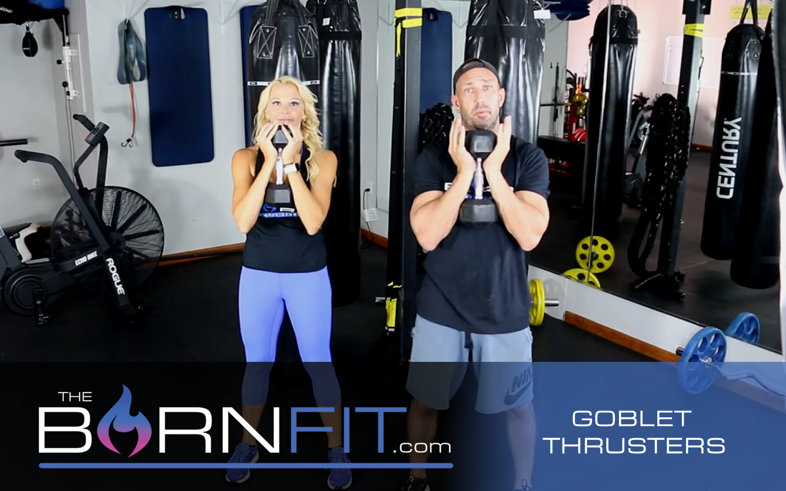 Goblet Thrusters workouts